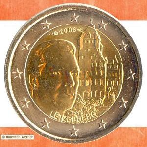 sonderm nzen luxemburg 2 euro m nze mit einem motiv ihrer. Black Bedroom Furniture Sets. Home Design Ideas